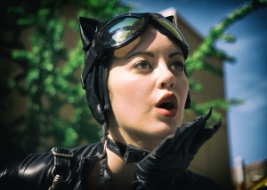 Catwoman kiss