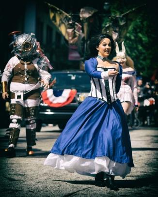 Elizabeth Leads Parade