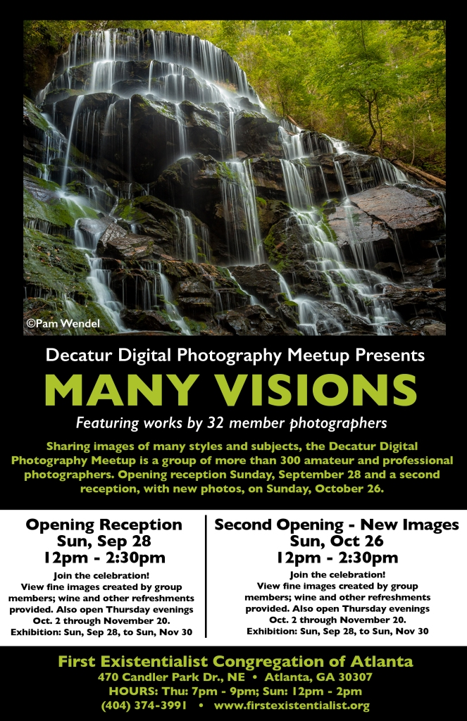 Many Visions promotional flyer by Joey Potter.