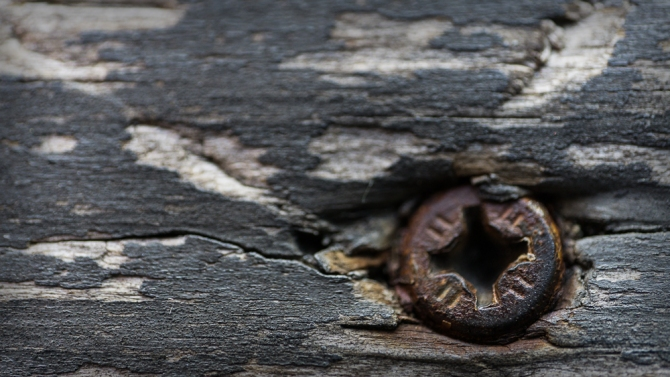 Rusty screw