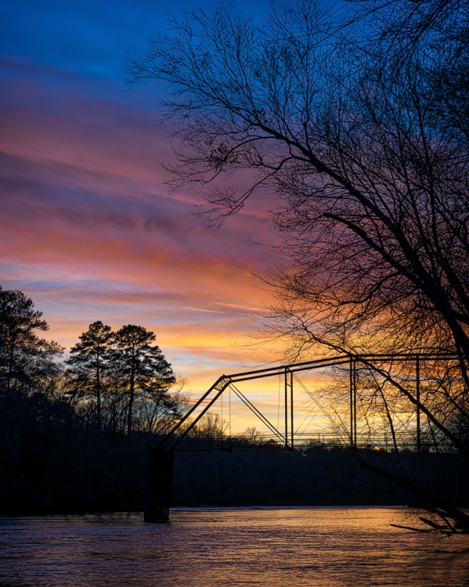 Sunset on the Chattahoochee River.