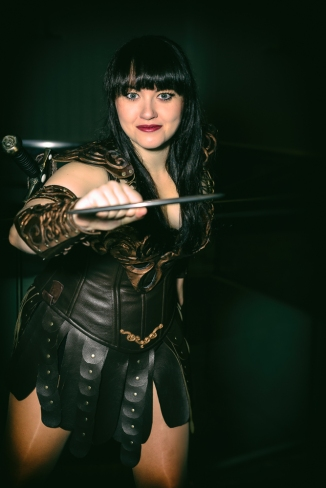 Xena, the Warrior Princess at DragonCon 2014. Model: Bernadette Bentley www.bernadettebentleyactor.com/