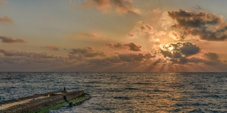 One of the highlights of the trip was the Shabbat service on the Tel Aviv pier, with this amazing sunset.